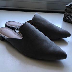 Grey closed toe shoes